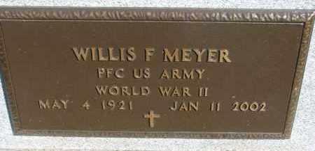MEYER, WILLIS F. (WW II) - Wayne County, Nebraska | WILLIS F. (WW II) MEYER - Nebraska Gravestone Photos