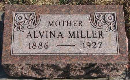 MILLER, ALVINA - Wayne County, Nebraska   ALVINA MILLER - Nebraska Gravestone Photos