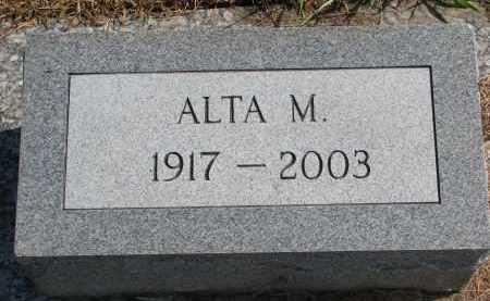 MILLER, ALTA M. - Wayne County, Nebraska   ALTA M. MILLER - Nebraska Gravestone Photos