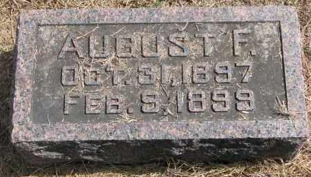 MILLER, AUGUST F. - Wayne County, Nebraska | AUGUST F. MILLER - Nebraska Gravestone Photos