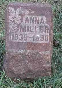 MILLER, ANNA - Wayne County, Nebraska   ANNA MILLER - Nebraska Gravestone Photos