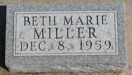 MILLER, BETH MARIE - Wayne County, Nebraska | BETH MARIE MILLER - Nebraska Gravestone Photos