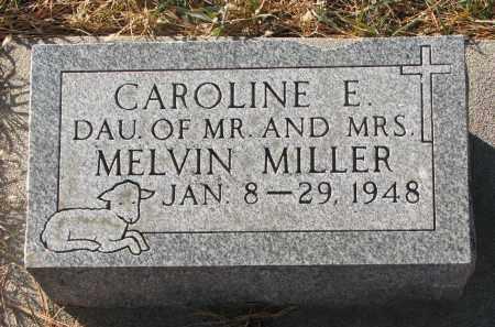 MILLER, CAROLINE E. - Wayne County, Nebraska | CAROLINE E. MILLER - Nebraska Gravestone Photos