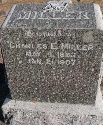 MILLER, CHARLES E. - Wayne County, Nebraska   CHARLES E. MILLER - Nebraska Gravestone Photos