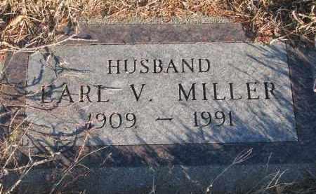 MILLER, EARL V. - Wayne County, Nebraska   EARL V. MILLER - Nebraska Gravestone Photos