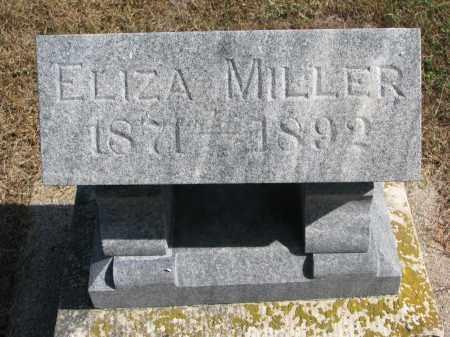 "MILLER, ELIZABETH ""ELIZA"" - Wayne County, Nebraska | ELIZABETH ""ELIZA"" MILLER - Nebraska Gravestone Photos"