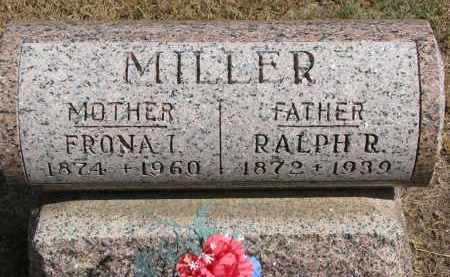 MILLER, FRONA I. - Wayne County, Nebraska | FRONA I. MILLER - Nebraska Gravestone Photos