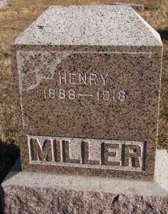 MILLER, HENRY - Wayne County, Nebraska | HENRY MILLER - Nebraska Gravestone Photos