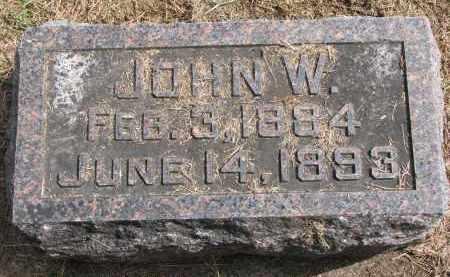 MILLER, JOHN W. - Wayne County, Nebraska | JOHN W. MILLER - Nebraska Gravestone Photos