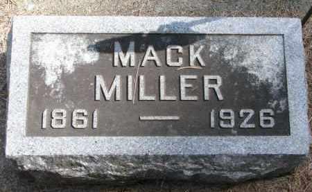 MILLER, MACK - Wayne County, Nebraska | MACK MILLER - Nebraska Gravestone Photos