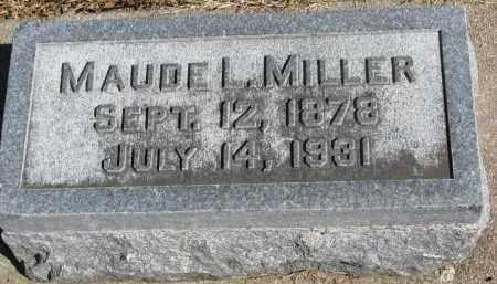 MILLER, MAUDE L. - Wayne County, Nebraska   MAUDE L. MILLER - Nebraska Gravestone Photos
