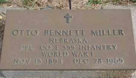 MILLER, OTTO BENNETT (WW I) - Wayne County, Nebraska   OTTO BENNETT (WW I) MILLER - Nebraska Gravestone Photos