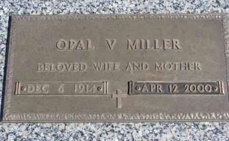MILLER, OPAL V. - Wayne County, Nebraska | OPAL V. MILLER - Nebraska Gravestone Photos