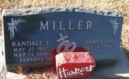 MILLER, RANDALL L. - Wayne County, Nebraska   RANDALL L. MILLER - Nebraska Gravestone Photos