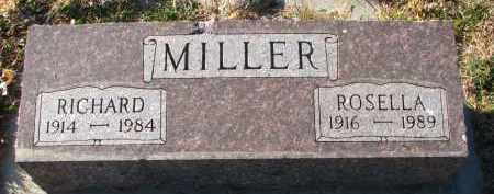 MILLER, RICHARD - Wayne County, Nebraska | RICHARD MILLER - Nebraska Gravestone Photos