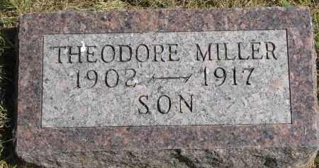 MILLER, THEODORE - Wayne County, Nebraska | THEODORE MILLER - Nebraska Gravestone Photos