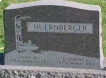 NUERNBERGER, JOHN H. - Wayne County, Nebraska   JOHN H. NUERNBERGER - Nebraska Gravestone Photos