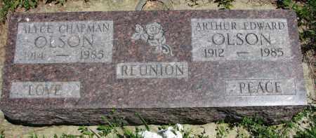 CHAPMAN OLSON, ALYCE - Wayne County, Nebraska | ALYCE CHAPMAN OLSON - Nebraska Gravestone Photos