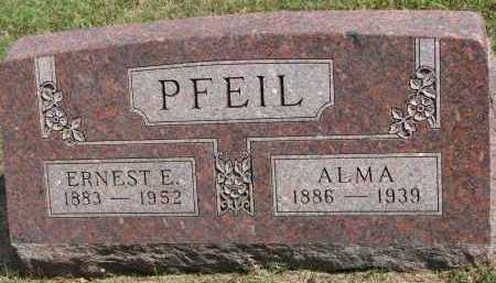 PFEIL, ERNEST E. - Wayne County, Nebraska | ERNEST E. PFEIL - Nebraska Gravestone Photos