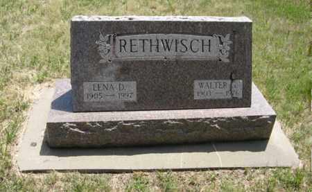 RETHWISCH, WALTER G. - Wayne County, Nebraska | WALTER G. RETHWISCH - Nebraska Gravestone Photos