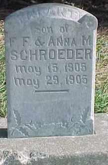 SCHROEDER, INFANT - Wayne County, Nebraska | INFANT SCHROEDER - Nebraska Gravestone Photos