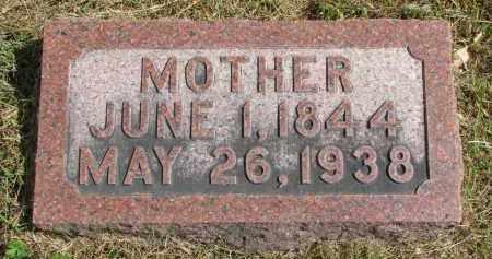 SCHULZ, MOTHER - Wayne County, Nebraska   MOTHER SCHULZ - Nebraska Gravestone Photos