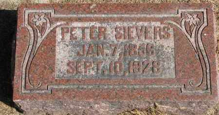 SIEVERS, PETER - Wayne County, Nebraska   PETER SIEVERS - Nebraska Gravestone Photos