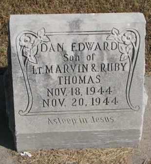 THOMAS, DAN EDWARD - Wayne County, Nebraska | DAN EDWARD THOMAS - Nebraska Gravestone Photos