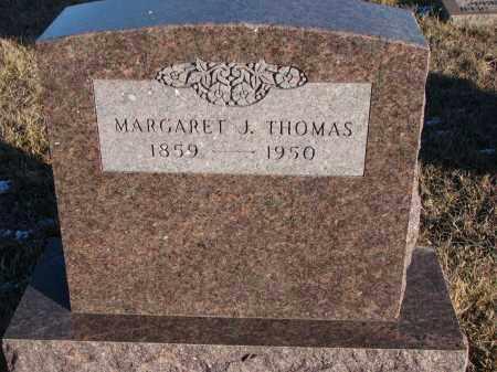 THOMAS, MARGARET J. - Wayne County, Nebraska | MARGARET J. THOMAS - Nebraska Gravestone Photos