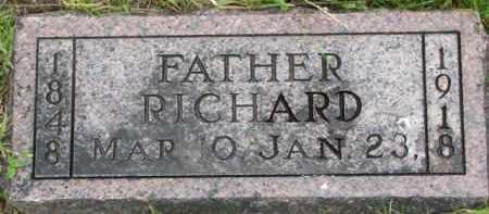 THOMAS, RICHARD - Wayne County, Nebraska | RICHARD THOMAS - Nebraska Gravestone Photos
