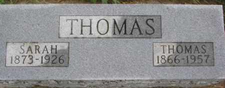 THOMAS, THOMAS - Wayne County, Nebraska | THOMAS THOMAS - Nebraska Gravestone Photos