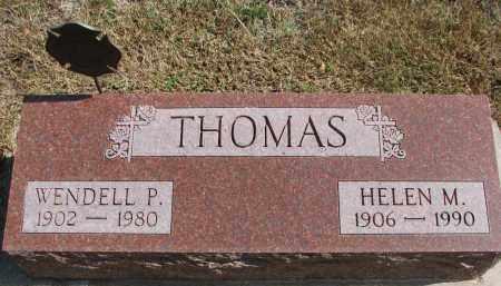 THOMAS, WENDELL P. - Wayne County, Nebraska | WENDELL P. THOMAS - Nebraska Gravestone Photos