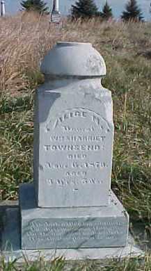 TOWNSEND, ALICE M. - Wayne County, Nebraska   ALICE M. TOWNSEND - Nebraska Gravestone Photos