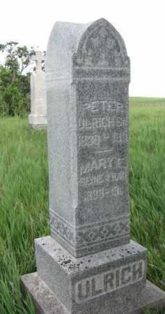 ULRICH, PETER SR. - Wayne County, Nebraska | PETER SR. ULRICH - Nebraska Gravestone Photos