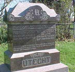 LANGE UTECHT, PAULINE - Wayne County, Nebraska | PAULINE LANGE UTECHT - Nebraska Gravestone Photos