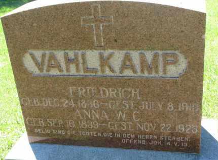VAHLKAMP, FRIEDRICH - Wayne County, Nebraska | FRIEDRICH VAHLKAMP - Nebraska Gravestone Photos