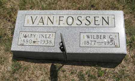 VAN FOSSEN, MARY INEZ - Wayne County, Nebraska   MARY INEZ VAN FOSSEN - Nebraska Gravestone Photos