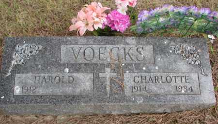 VOECKS, CHARLOTTE - Wayne County, Nebraska   CHARLOTTE VOECKS - Nebraska Gravestone Photos