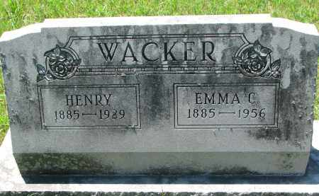 WACKER, EMMA C. - Wayne County, Nebraska | EMMA C. WACKER - Nebraska Gravestone Photos