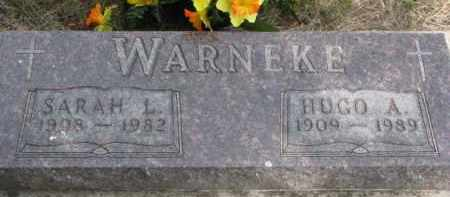 WARNEKE, HUGO A. - Wayne County, Nebraska | HUGO A. WARNEKE - Nebraska Gravestone Photos