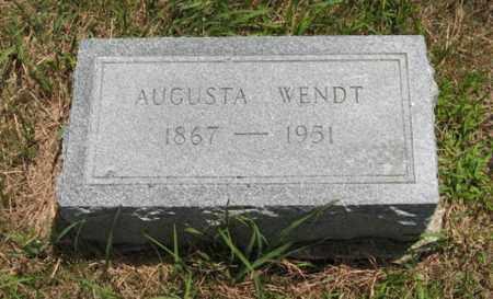 WENDT, AUGUSTA - Wayne County, Nebraska | AUGUSTA WENDT - Nebraska Gravestone Photos
