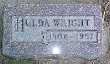 WRIGHT, HULDA - Wayne County, Nebraska | HULDA WRIGHT - Nebraska Gravestone Photos