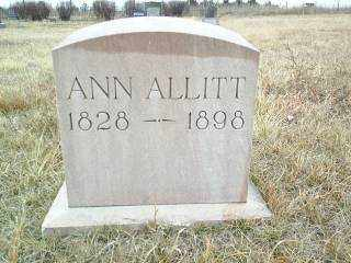 ALLITT, ANN - Wheeler County, Nebraska   ANN ALLITT - Nebraska Gravestone Photos