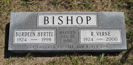 BISHOP, R. VERNE - Wheeler County, Nebraska | R. VERNE BISHOP - Nebraska Gravestone Photos