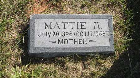 BISHOP, MATTIE H. - Wheeler County, Nebraska | MATTIE H. BISHOP - Nebraska Gravestone Photos