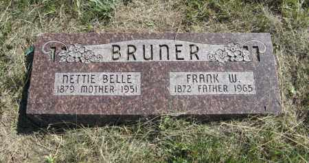 BRUNER, FRANK W. - Wheeler County, Nebraska | FRANK W. BRUNER - Nebraska Gravestone Photos