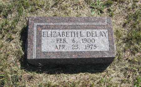 DELAY, ELIZABETH L. - Wheeler County, Nebraska | ELIZABETH L. DELAY - Nebraska Gravestone Photos