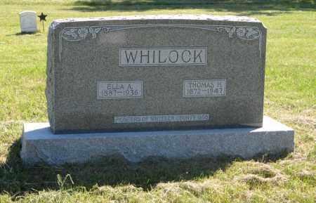 WHILOCK, THOMAS H. - Wheeler County, Nebraska | THOMAS H. WHILOCK - Nebraska Gravestone Photos