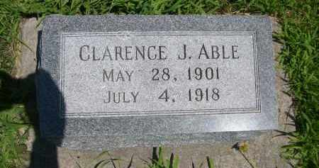 ABLE, CLARENCE J. - York County, Nebraska | CLARENCE J. ABLE - Nebraska Gravestone Photos