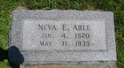 ABLE, NEVA E. - York County, Nebraska | NEVA E. ABLE - Nebraska Gravestone Photos